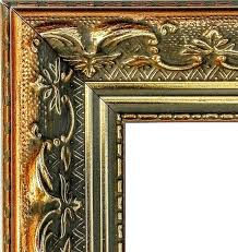 ornate gold picture frame moulding