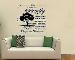 Tree Wall Decal Inspirational Decal Family Roots Keep Us Together 20 W Ebay