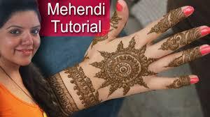 circle mehndi ka design