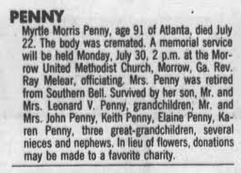 Obituary for PENNY . Penny (Aged 91) - Newspapers.com