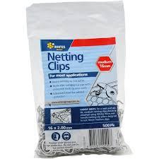 Whites 16mm Netting Clips 500 Pack Bunnings Warehouse