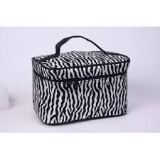 zebra print cosmetic bag custom zebra
