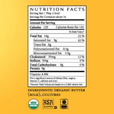 ghee nutrition facts per 100g