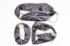 motorcycle replacement seat cover black