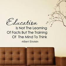 Albert Einstein Quote Education Is Not From Fabwalldecals On Etsy