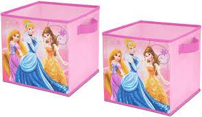 Amazon Com Disney Princess Storage Cubes Set Of 2 10 Inch Toys Games