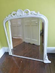 large vintage antique white ornate