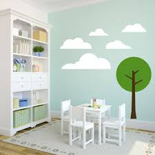 Clouds And Tree Wall Decals Wall Decor Stickers
