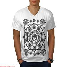 pagan sun symbolism men whitev neck t