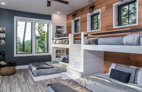 How To Make The Most Of A Shiplap Accent Wall Built In Bunks Bunk Beds With Stairs Bunk Beds Built In