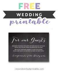 free printable wedding sign chalkboard