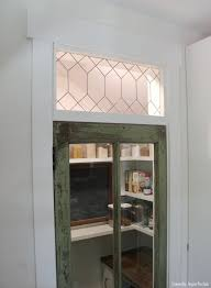simple faux leaded glass and our rustic