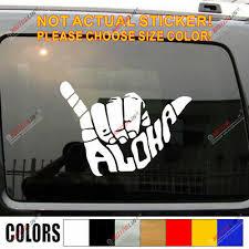 Shaka Brah Hawaii Sticker Decal Hang Loose Aloha Hand Sign Car Window Vinyl 6 50 Picclick