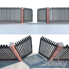 3d Models Other Welded Wire Panel Fence Gate