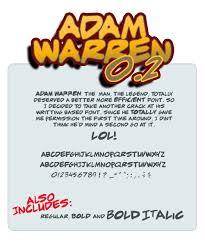 Adam Warren Font | dafont.com