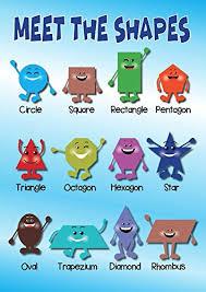 Shapes Educational Poster Kids Poster Buy Online In Trinidad And Tobago At Desertcart