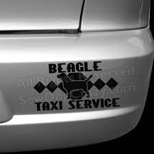 Beagle Taxi Decal Sew Dog Crazy