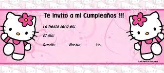 Invitacionn Kitty Tarjetas Invitacion Cumpleanos Cumpleanos De