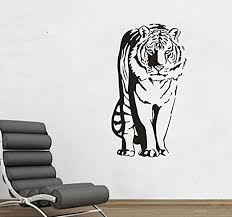 Amazon Com Valuevinylart Tiger Standing Large Wall Decal 22 X39 Black Home Kitchen