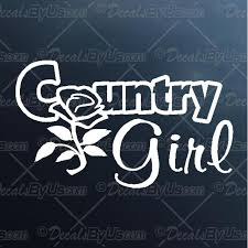 Best Buys On Country Girl Rose Car Decals