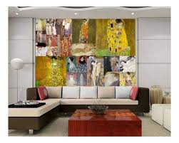 Wall26 Peel And Stick Wallpapaer Famous Paintings Collage By Gustav Klimt Removable Large Wall Mural Creative Wall Decal 100x144 Inches Walmart Com Walmart Com
