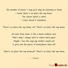 the number of places i ma quotes writings by prerana