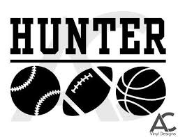 Custom Car Decal Sports Basketball Football Soccer Volleyball Baseball Personalized With Name Custom Car Decals Car Decals Custom Cars