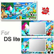 Amazon Com Super Mario New Skin Decal Vinyl Sticker Cover For Nintendo Ds Lite Video Games