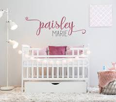 Custom Swash Name Wall Decal Art Kid Name Nursery Wall Etsy