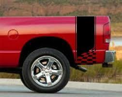 Vinyl Graphics Decal Sticker Truck Bed Racing Stripe 10 X 48 6st 30 Checker Flag Ebay