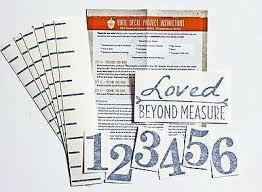 Black Measure Lines Large Style Loved Diy Vinyl Growth Chart Ruler Decal Kit