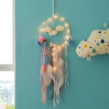 Big Offer 84c49e Led Nordic Dream Catcher Cloud Dreamcatcher Lights Baby Kids Room Decoration Girl Room Decor Gift For Girl Cicig Co