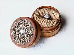enement ring box solid wood wooden
