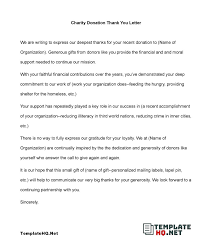 making thank you letter for donation