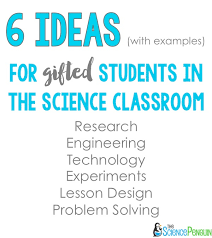 gifted child in the science clroom