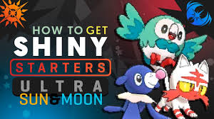 HOW TO GET SHINY STARTERS IN Pokemon ULTRA SUN and MOON! Pokemon ...