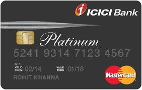 icici bank platinum visa credit card