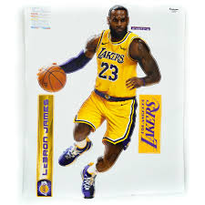 Lebron James Los Angelos Lakers Wall Decal Unclaimed Baggage