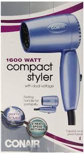 conair travel hair dryer 054csbw mini