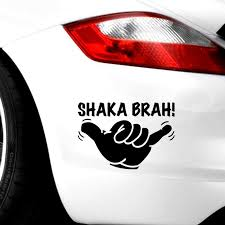 Shaka Brah Mano Hawaii Surf Sticker Window Decals And Motorcycle Toy Styling 14x10cm Stickers Aliexpress