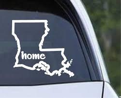 Louisiana State Home Outline La Cajun Usa Die Cut Vinyl Decal Sticker Texas Die Cuts