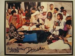 Donovan and Prudence Farrow Autographs on photo with The Beatles in India |  #1852919817