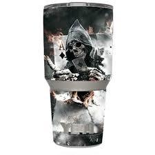 Skin Decal Vinyl Wrap For Yeti 30 Oz Rambler Tumbler Cup 6 Piece Kit Stickers Skins Cover Ace Diamonds Grim Reeper Skull Walmart Com Walmart Com