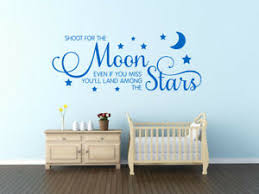 Child S Wall Quote Shoot For The Moon Wall Sticker Vinyl Decal Transfer Ebay