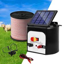 8km Solar Electric Fence Energiser Charger With 400m Tape And 25pcs In Click To Pet