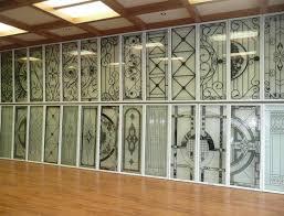 door insert wrought iron glass door