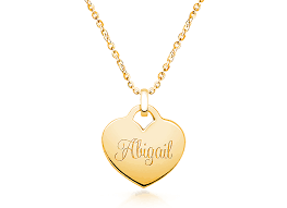 14k gold heart engraved children s