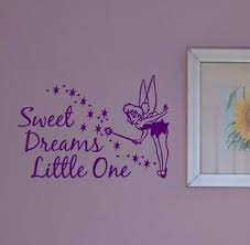 Tinkerbell Fairy Sweet Dreams Little One Disney Room Wall Nursery Vinyl Sticker Ebay