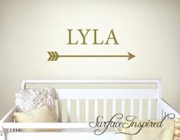 Name Wall Decals Nursery Arrow Vinyl Lettering Personalized Name Decal Surface Inspired Home Decor Wall Decals Wall Art Wooden Letters