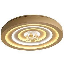 Đèn ốp trần LED mâm tròn 600mm đính hạt pha lê Venus SZ8021 – Đèn Trang Trí  Khang Dy Venus